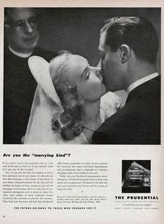 Prudential Poster Best Car Insurance, Insurance Ads, Vintage Cake Toppers, Vintage Advertisements, Advertising, History, Couple Photos, Health, Vintage Weddings