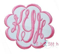 Fancy Oval Monogram Set - 3 Sizes! | Alphabets | Machine Embroidery Designs | SWAKembroidery.com The Itch 2 Stitch