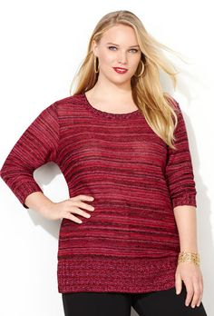 SIDE SLIT TUNIC, Red