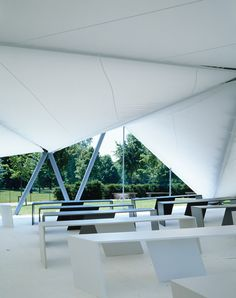 next up in our exclusive video series celebrating the 15th Serpentine Gallery Pavilion, gallery director Julia Peyton-Jones looks back at how Zaha Hadid's marquee from 2000 launched the annual commission.