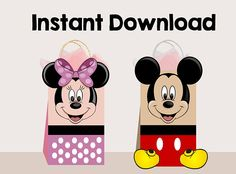 Mickey Mouse favor bags Minnie Mouse favor bagsMickey AND
