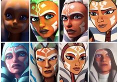 Frozen Is Love Ahsoka Tano Is Life - Rebels Star Wars - Ideas of Rebels Star Wars - I present you all the canon versions of Ahsoka Tano! Disney We just need a live action version to add to the collection hint hint Star Wars Trivia, Star Wars Facts, Star Wars Humor, Star Wars Fan Art, Star Wars Clone Wars, Star Wars Rebels, Ahsoka Tano, Ashoka Star Wars, Stargate