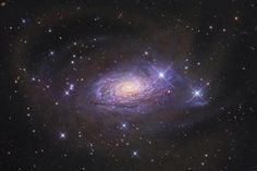 The Sunflower Galaxy (M63). Located in the constellation Canes Venatici, around 27 million light-years from Earth.