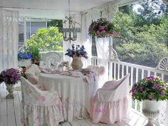 Absolutely ❤ it . . . Serenity . . . would love a porch as soft and romantic as this one!