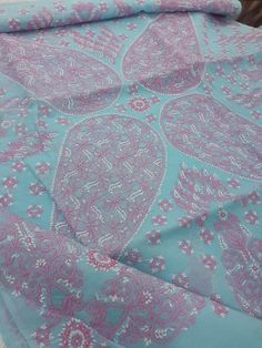 Lucknowi Chikankari Online Saree Blue Cotton with very fine chikankari murri, shadow & jaali work with designer border, allover bootis on body with blouse piece