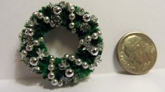 Christmas Wreath for Dollhouse. Evergreen by LindaIrwinCottages
