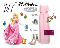 """DIY Sleeping Beauty"" by coolmommy44 ❤ liked on Polyvore featuring Rut&Circle, Bling Jewelry, M&Co, ALDO, OKA, DIYHalloween and diycostume"