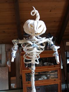 Another papier mache skeleton how-to.