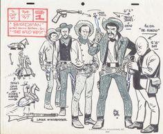 Alex Toth Jesse James Gang model sheet, in John Cogan's Toth, Alex Comic Art Gallery Room
