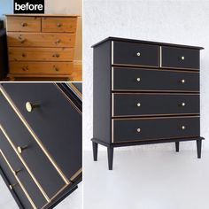 """Aleksandra's Furniture on Instagram: """"Before and after 🥰 Available for sale! #furniture #funfurniture  #paintedfurniture #trondheim  #Aleksandrasfurniture #gjenbruk…"""" Cool Furniture, Painted Furniture, Trondheim, Mid Century, Bedroom, Crafts, Craft Ideas, Instagram, Home Decor"""