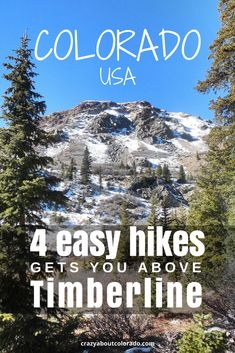 4 amazing easy hikes above timberline in the Colorado Mountains. Tundra, alpine lakes, marmots. Hike or snowshoe, on these family friendly trails. #adventuretravel