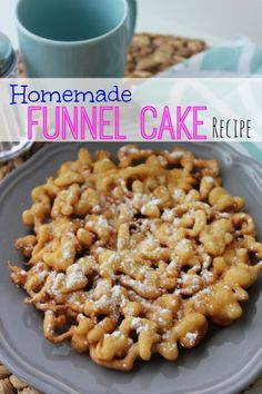 Easy Homemade Funnel Cake Recipe! Tastes just like the State Fair, such a fun idea for a party!