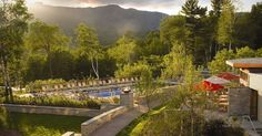 Dusk at the Topnotch Resort & Spa in Stowe, Vermont