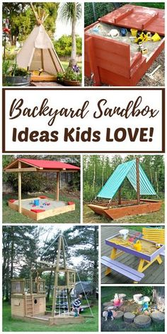 DIY Backyard sandboxes are amazing outdoor sensory play spaces for kids. Tips, tutorials, and hacks for every type of outdoor sandbox are included. Whether you prefer to DIY or buy you will find what you are looking for!
