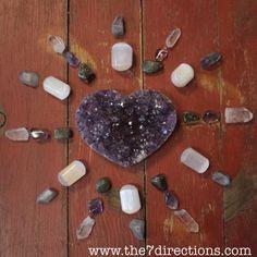 #crystalgrid #healinghearts #crystalhealing #amethyst #meditate #yoga #medicinewheel #metaphysical #zenwisdom #selenite #labradorite #clearquartz #loveandlight #prayercircle #pagan