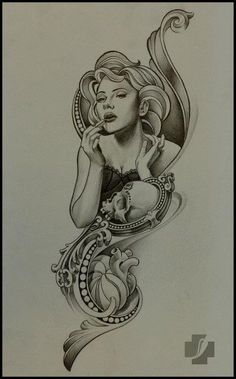 composition pencil on paper by Doctor Pepper Scarlett Johansson Tattoos, Tattoo Project, Paper Drawing, Tattoo Drawings, Tattoo Artists, Pepper, Artworks, Composition, Pencil