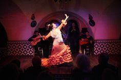 La bailaora sevillana Pastora Galván actuando en Tablao Flamenco Cordobés en Barcelona