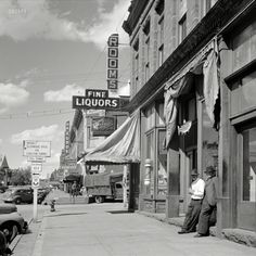 """September 1941. """"Main street of old mining town. Leadville, Colorado."""""""