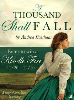 The search for her runaway sister goes awry when Carrie finds herself arrested during the Civil War for impersonating an office in Andrea Boeshaar's A Thousand Shall Fall. Join Andrea in celebrating the release of her new book with a Kindle Fire HD 6 giveaway and blog tour. Click for details!
