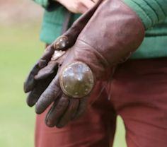 leather gloves from Akademia Szermierzy - Fior di Battaglia (medieval longsword techniques)