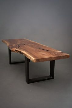 YOUR CUSTOM Black Walnut Coffee Table-Size Medium Live Edge