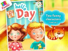 Hello day: Morning (education app for kids) - a role-play game for learning about morning routines. Original Appysmarts score: 83/100