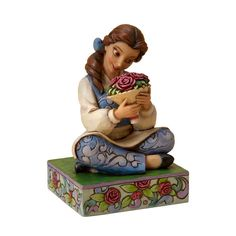 AmazonSmile - Disney Traditions designed by Jim Shore for Enesco Belle Figurine 4.25 IN - Collectible Figurines