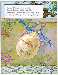 """Humpty, Dumpty"", aus: ""Mother Goose"", Volland Popular Edition (1921), Illustration von Frederick Richardson (1862 - 1937)"