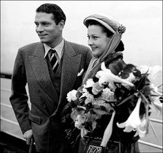 Laurence Olivier & Vivien Leigh (1948, via nytimes)