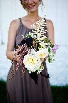 Rustic bridesmaid bouquet: http://www.stylemepretty.com/2013/05/08/park-city-wedding-from-honey-of-a-thousand-flowers/ | Photography: Jesse Erasmas