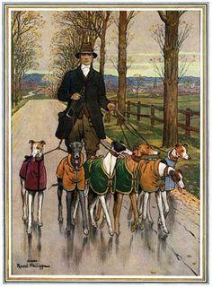 1914 Greyhound print.
