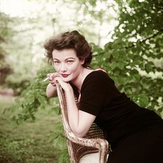 """"""" Gene Tierney photographed by Milton Greene. """""""