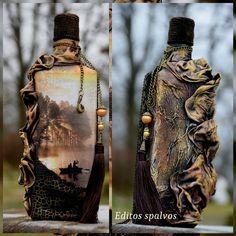Decoupage ideas Botellas decoradas Decopage bottle Декор бутылок Bottle recycle