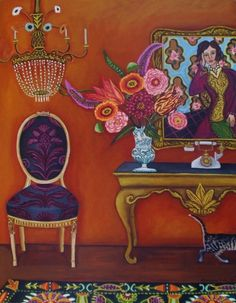 Theresas Vignette New Painting, painting by artist Catherine Nolin