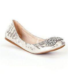 Antonio Melani Petah Metallic Ornamented Slip-On Flats