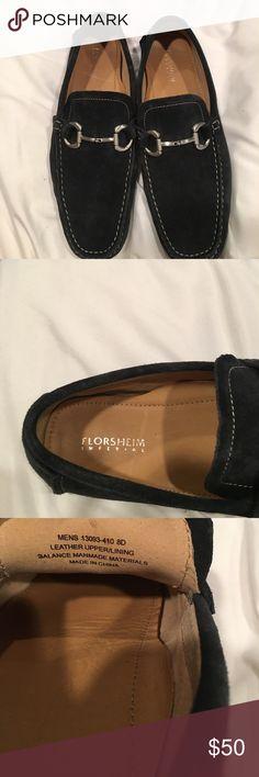 Men's Navy Suede Driving Mocasin Barely worn men's navy blue suede driving moc. Florsheim Shoes Loafers & Slip-Ons