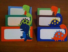 12 Dinosaur theme Buffet Labels  Name Cards by LittleMissStarchick, $12.00