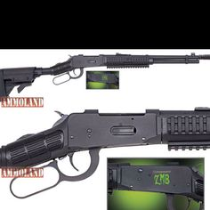 Mossberg model 464 30-30 lever action configured for their new zombie killer lineup.