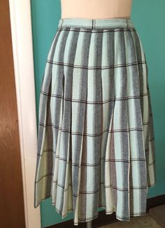 The Connie Stevens  1960's REVERSIBLE Wool Plaid by Kinfauns