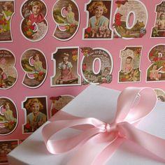 'Girl's Birthday Numbers' Design by surface pattern designer, Rachel Goodchild