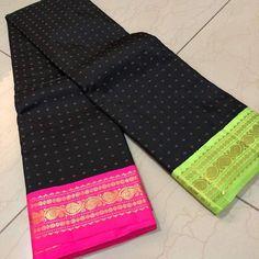 Online shopping from a great selection at Clothing & Accessories Store. Lehenga Designs Simple, Saree Blouse Designs, Kanjivaram Sarees, Kanchipuram Saree, Soft Silk Sarees, Cotton Saree, Saree Trends, Trendy Sarees, Organza Saree