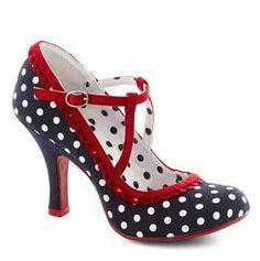 Polka dot shoe. .cute