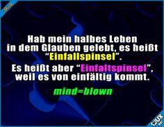 Da war ich wohl sehr einfältig :\  #Humor #mindblown #deutsch #lustig #Sprüche #lustigeBilder #Jodel #funny