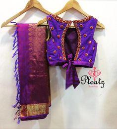Gorgeous Heavy Work Silk Saree Blouses From Pleatz Blouse Back Neck Designs, Silk Saree Blouse Designs, Fancy Blouse Designs, Saree Blouse Patterns, Bridal Blouse Designs, Lehenga Blouse, Stylish Blouse Design, Designer Blouse Patterns, Blouse Models