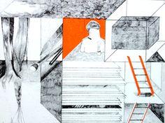 risograph/ 2c/ orange+black/ by inkchacha