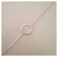 Bracelet rond argenté
