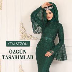 Casual dresses for veiled women are vailable at modaselvim. So chic dresses are waiting for you at modaselvim Chiffon Hijab, Hijab Prom Dress, Hijab Evening Dress, Prom Dresses, Abaya Designs, Fall Dresses, Short Dresses, Hijab Fashion, Fashion Dresses