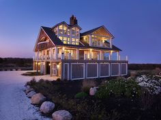 A PERFECT beach house design! Rhode Island Cottage by Burgin Lambert Architects Coastal Homes, Coastal Cottage, Coastal Living, Beach Cottages, Country Cottages, Beach Houses, Construction, Luxury Interior Design, My Dream Home