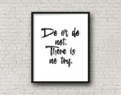 Do Or Do Not There Is No Try Yoda Inspirational Quote by Motif4U