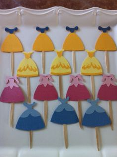 Princess cupcake toppers by TheCandyBarn on Etsy, $10.00 Ballerina Cupcakes, Princess Cupcake Toppers, Princess Cupcakes, 12 Cupcakes, Girly Cakes, Cinderella Dresses, Sprinkles, Frosting, Kid Stuff
